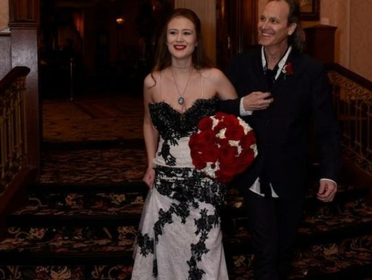 Tessa Neumann with her stepfather, Kurt Neumann of BoDeans, at her wedding at the Pfister Hotel in Milwaukee in 2015.