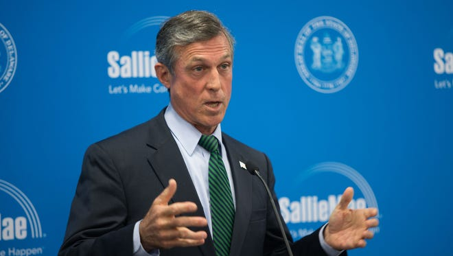 Governor John Carney speaks at the opening of Sallie Mae's second office in Delaware.