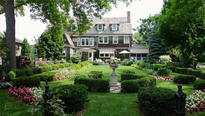 Catherine Davis' Neenah garden combines formal elements with historic techniques to give the sense that this garden has always been here.