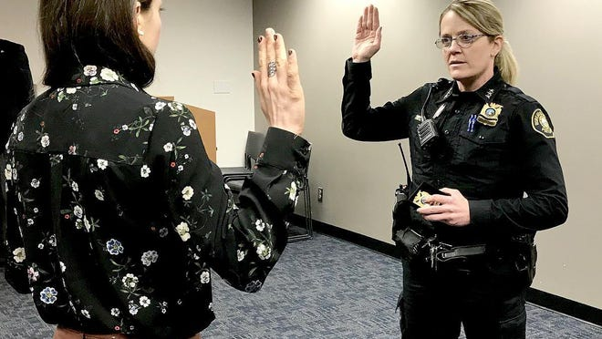 Jami Resch was sworn in as the Portland Police Bureau Chief of Police on Dec. 31.