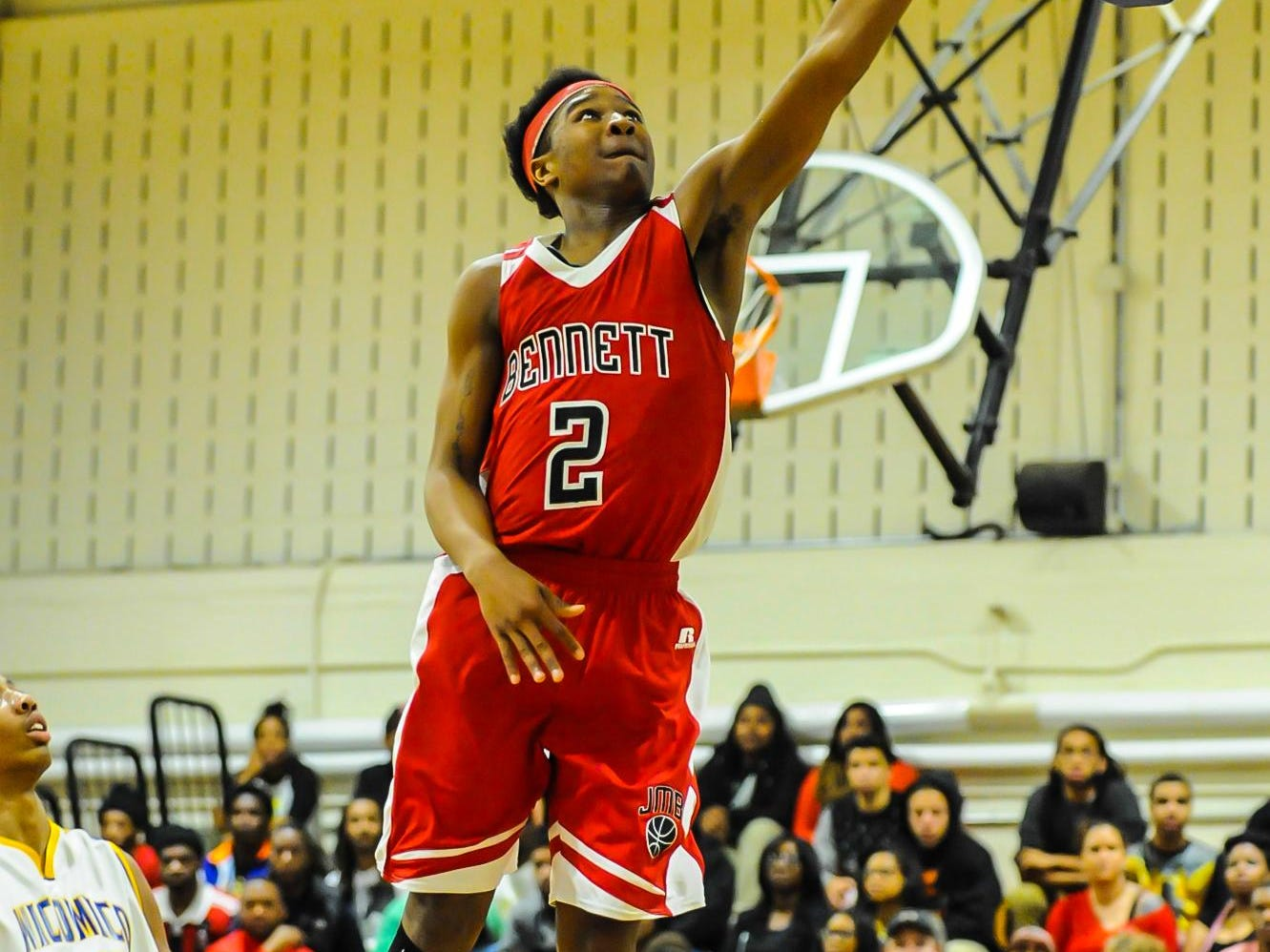 Jorden Duffy goes for a layup against Wicomico High.