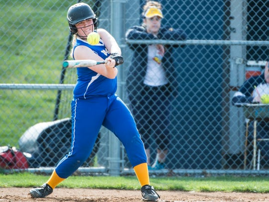 Northern Lebanon's Kaylee Mauser drove in three runs