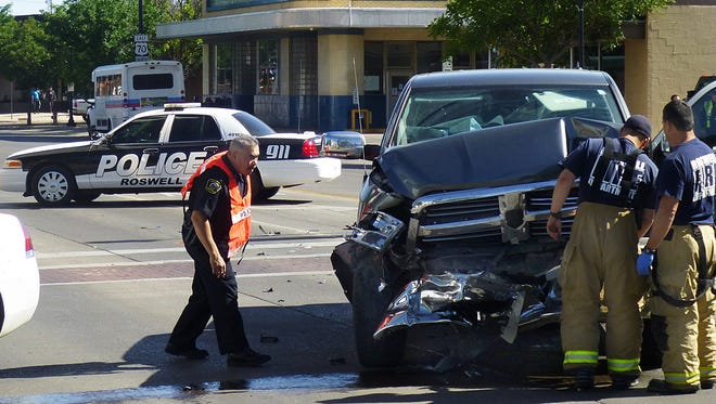 The scene of an car accident that took the life of a 77-year-old woman in May 2015.