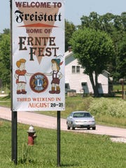Highway H between Mount Vernon and Monett leads to Freistatt and its annual Ernte-Fest.