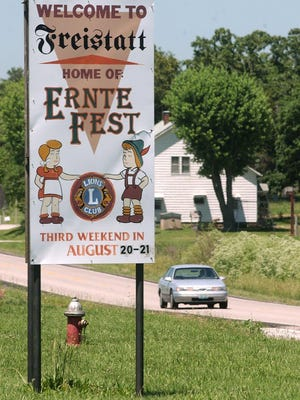Highway H between Mount Vernon and Monett leads to Freistatt and its annual Ernte-Fest. It's the 43rd year for the festival sponsored by the Freistatt Lions Club.