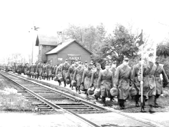 In May of 1954, 360 regular Army troops arrived at the Haven railway station by a special train from Fort Riley, Kansas. They marched from Haven to the camp along the road in formation.