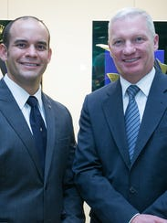 From left, Frank Gradyan, luxury watch service technician
