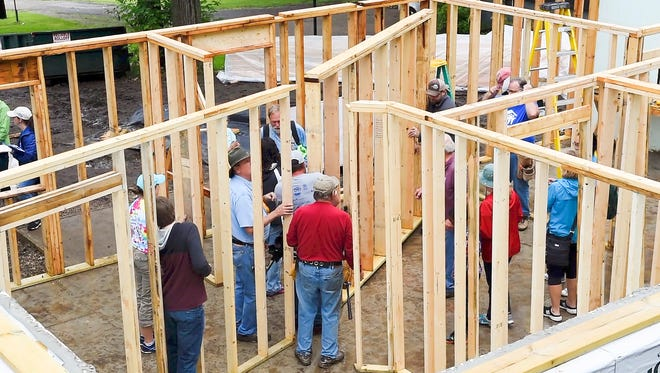 """Central Minnesota Habitat for Humanity kicks off its first """"Veterans Build"""" with a groundbreaking Monday."""