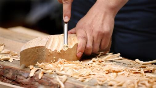 Woodcarvers participate in Woodcarving Show and Competition this weekend.