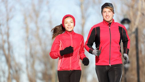 Do warm-up exercises before your workout during cold weather.