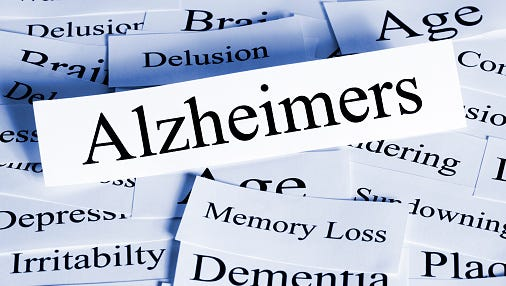 In Alzheimer's Disease, the brain cells degenerate and die, causing a steady decline in memory and mental function.