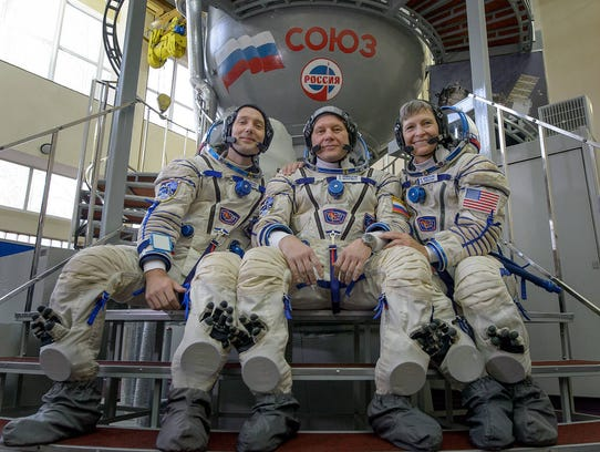 Expedition 50/51 crew members Thomas Pesquet of the