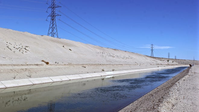 The Coachella Canal brings Colorado River water to the valley for agricultural irrigation.