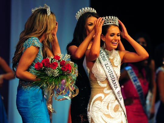 Miss Florida Parishes Brittany Guidry is crowned as Miss Louisiana USA at the Heymann Performing Arts Center in Lafayette, LA, Saturday, Oct. 26, 2013.  Paul Kieu, The Daily Advertiser