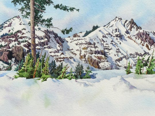 """Dale Kurtz: National Parks of the West,"" American landscape watercolors, are on display at Bush Barn Art Center through April 22."