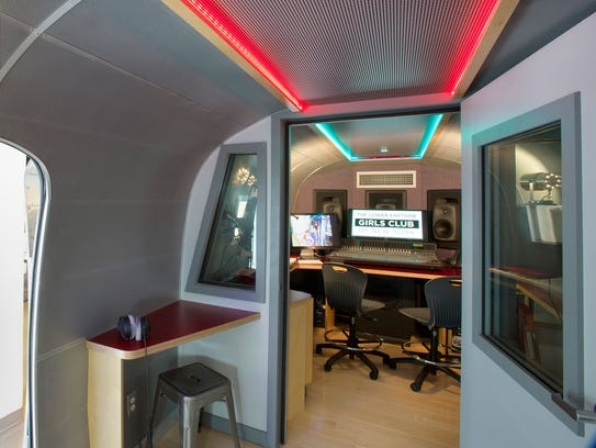 The Lower Eastside Girls Club Recording Studio Airstream
