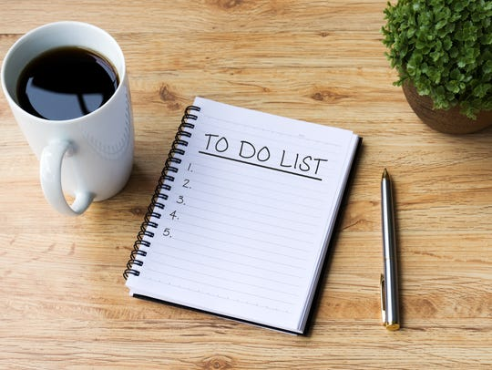 Make your list now on what you want to do this week.