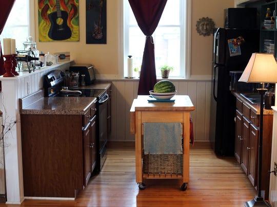 Kitchen nook at Birdsong Studio in Woodbury.