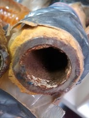 Lead from corroded pipes in Flint, Michigan, is partially