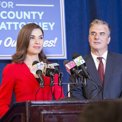 Julianna Margulies, with Chris Noth, plays Alicia Florrick