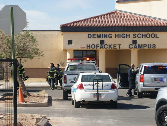 Deming police and fire departments responded to a false alarm at Deming High School in November 2017. The following morning, threats circulated on social media roiled the school though no incident occurred.