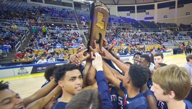 Lafayette Christian Knights beat Southern Lab to win the LHSAA  Championship game in Burton Coliseum.  Friday, March 10, 2017.