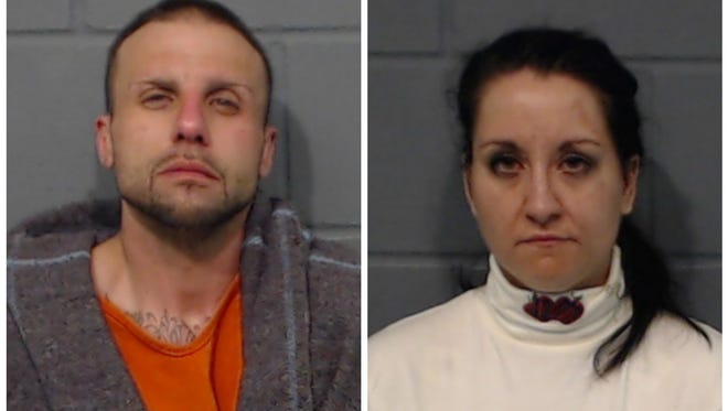 Joshua Garcia, left, and Jamison Townsend in mugshots provided by the Geary County, Kansas, Sheriff's Department.