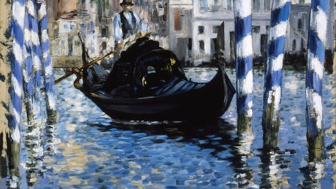 "Edouard Manet, ""The Grand Canal of Venice (Blue Venice),"" 1875. Oil on canvas, 54 x 65 cm"