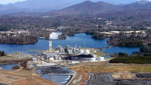 The Duke Energy power plant south of Asheville.