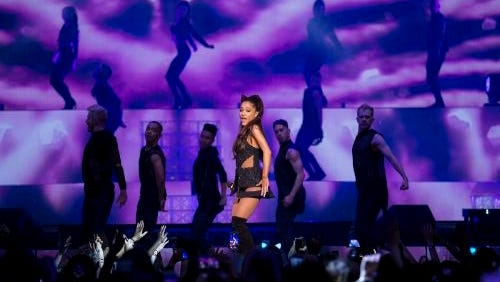 Singer Ariana Grande performs March 20 at Madison Square Garden in New York.