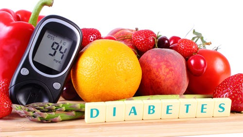 Diabetes may be managed without medication with lifestyle changes that include diet and exercise.