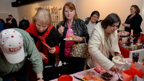 Guests enjoy samples at last year's I HEART Simpsonville event. This year's is set for Feb. 13.