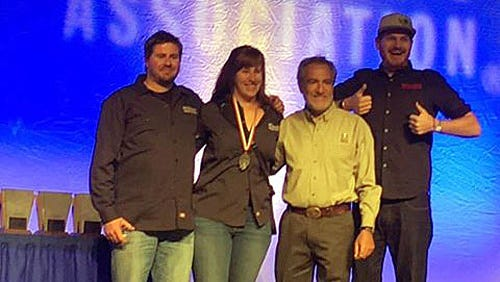 Historic Brewing Company wins a silver medal at the Great American Beer Festival in Denver.