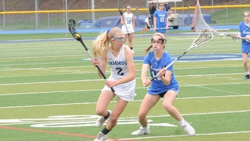 Patti Daniels (2) scored 36 goals and assisted 20 times for Paramus this season.
