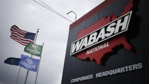 A Utah company hired a contract driver to pick up its new Wabash National trailer in Lafayette and haul it to a Maryland facility. The trailer never arrived, according to a theft report filed Wednesday.