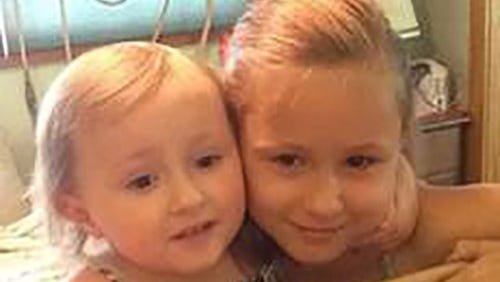From left: Ela Schneider, 2, and Ava Boudreaux, 7
