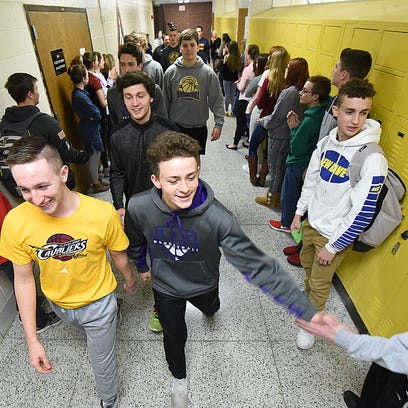 Lexington High School students flooded the halls to