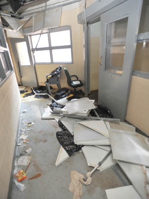 Damage done during a riot at the Hinds County Detention Center at Raymond. Supervisors are discussing funding, as well as building a new jail.