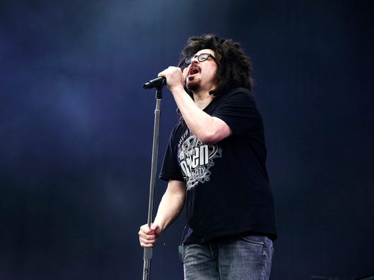 Adam Duritz of the Counting Crows performs at the Isle