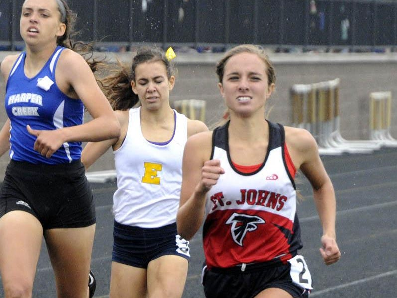 Karrigan Smith played a large role in St. Johns winning the Division 2 girls track state title in May.