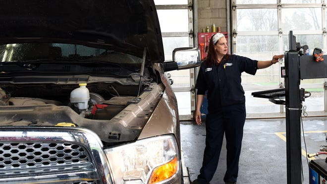 Michele Murray works at Valvoline Instant Oil Change on East 10th Street.