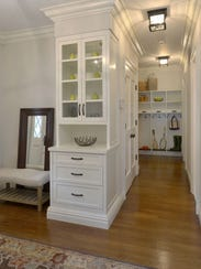 his mudroom in a custom built home on Shore Road in