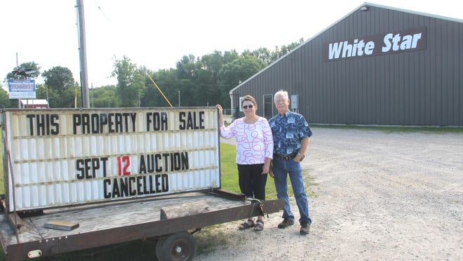 Virginia and Brent Wilber, third-generation co-owners of White Star Auction in Bronson, have put the business up for sale.