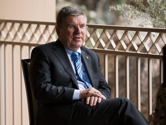 IOC president Thomas Bach in an interview before the