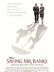 """In """"Saving Mr. Banks,"""" Walt Disney, played by Tom Hanks, strives to obtain movie rights from Mary Poppins author P.L. Travers, played by Emma Thompson."""