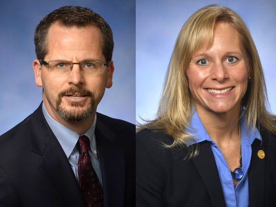 Michigan Rep. Todd Courser, R-Lapeer and Cindy Gamrat,
