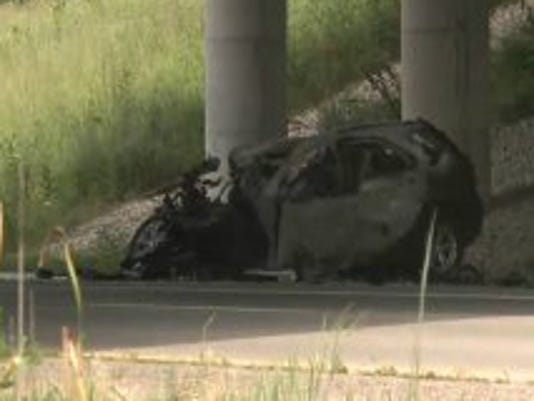One person killed in fiery Highway 5 crash