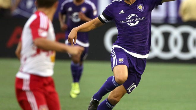 Orlando City's Kaka, shown against the New York Red Bulls, was named the captain of the MLS All-Star team.