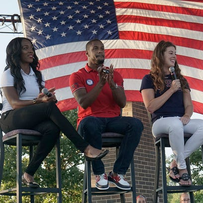 Canton Olympians Tiffany Porter, Jeff Porter, and Allison