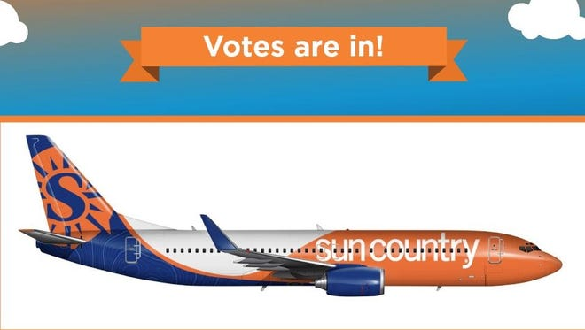 This is the new 'livery' that Sun Country employees voted to put on the carrier's aircraft.